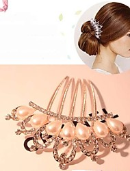 Lucky Doll Alloy / Imitation Pearl / Rhinestone Hair Combs Daily / Casual 1pc