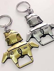 Robot boba fett ouvre-bouteille magnétique en métal massif avec porte-clés