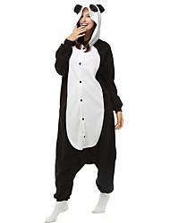 Pijama Kigurumi Panda Pijama Macacão Pijamas Ocasiões Especiais Lã Polar Fibra Sintética Preto branco Cosplay Para Adulto Pijamas Animais