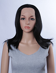 Fashion Synthetic Wigs Lace Front Wig 14inch Straight Black Heat Resistant Hair Wig Women