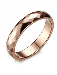 cheap -Z&X® Fashion Rhombus Titanium Wedding Steel Ring Band Rings Party / Daily / Casual 1pc