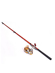 economico -Canna da pesca Canna da spinning Carbonio 130 M Lenze trainate & Barchette Asta Arancione-Fulang
