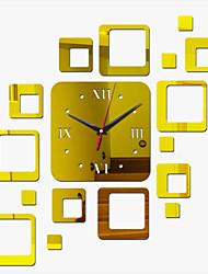 cheap -Acrylic DIY 3D Mirror Home Decor Wall Clock Mirror Surface Sticker