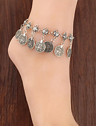 cheap -Fashionable Vintage Metal Coin Tassel Anklets Classical Feminine Style