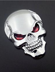 logo auto car da motocicleta do metal 3d badge emblema esqueleto vinil autocolante osso do crânio