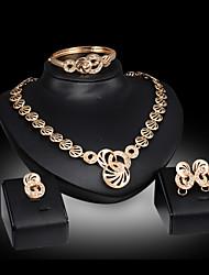 abordables -Collar / Pendiente / Brazalete / Anillo (Baño en Oro / Aleación / Zirconia Cúbica)- Bonito / Fiesta para Mujer