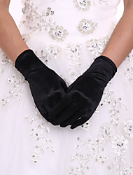 cheap -Spandex Polyester Wrist Length Glove Classical Bridal Gloves Party/ Evening Gloves With Solid