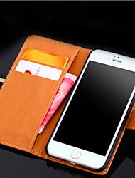 Недорогие -Кейс для Назначение Apple iPhone X iPhone 8 iPhone 8 Plus iPhone 6 iPhone 6 Plus Бумажник для карт Кошелек со стендом Флип Чехол Сплошной