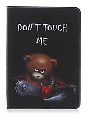 رخيصةأون -غطاء من أجل Tab S 10.5 / Samsung Galaxy / علامة التبويب S2 9.7 حالة سامسونج غالاكسي محفظة / حامل البطاقات / مع حامل غطاء كامل للجسم جملة / كلمة جلد PU إلى Tab 4 10.1 / Tab E 9.6