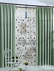 preiswerte -zwei Panele Rustikal / Modern / Neoklassisch Solid Multi-color Schlafzimmer Polyester Verdunklungsvorhänge Vorhänge