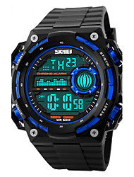 cheap -Skmei® Men's Big Size Dial PU Band Outdoor Sports LED Wrist Watch 50m Waterproof Assorted Colors Cool Watch Unique Watch