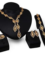 abordables -Collar / Pendiente / Brazalete / Anillo (Baño en Oro / Zirconia Cúbica)- Vintage / Fiesta para Mujer