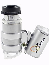 Недорогие -мини привело 45X микроскоп