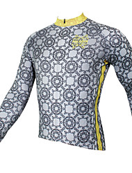 cheap -ILPALADINO Men's Long Sleeve Cycling Jersey - Gray Printing Bike Jersey Top, Quick Dry Ultraviolet Resistant Breathable, Spring Summer Fall, Polyester 100% Polyester Terylene / Stretchy