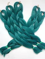 "1PC 24"" 80G Emerald green/teal Kanekalon Senegalese Twist Xpression Synthetic Jumbo Box Braiding Hair"