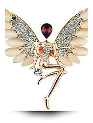 baratos -Mulheres Broches Fashion Cristal Liga Jóias Para Casamento Festa Ocasião Especial Aniversário Presente Diário Casual