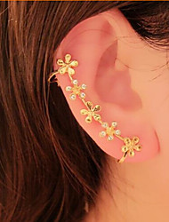 Women's Ear Cuffs Flower Style Flowers Floral Rhinestone Alloy Flower Daisy Jewelry For Party Daily