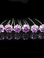 Alloy Hairpins Wedding / Party 6pcs Classical Feminine Style