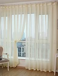 due pannelli banda moderna tende a pannelli in poliestere bianco camera gialla tende
