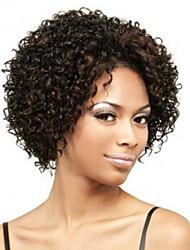 preiswerte -Synthetische Perücken Locken Dichte Kappenlos Damen Braun Kurz Synthetische Haare