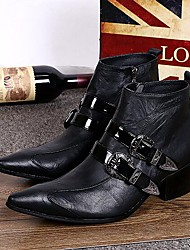 Men's Shoes Amir Limited Edition Pure Handmade Outdoor / Party & Evening Leather Fashion Boots Black