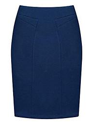 preiswerte -Damen Röcke - Bodycon / Übergröße Knielang Wolle / Andere Mikro-elastisch