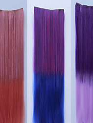 cheap -Synthetic Ponytail Straight Tape In Ponytail 40-65CM gram Medium(90g-120g) Quantity