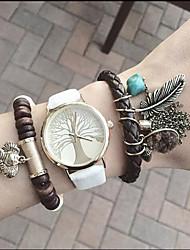 cheap -Women's Quartz Bracelet Watch Fashion PU Band Casual Fashion Black