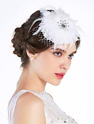 お買い得  -チュールレースの魅力的な花のヘッドピースクラシックな女性のスタイル