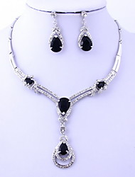 Gold Plated Romantic Zircon Necklace Set (Including Necklace, Earrings)Jewelry Sets