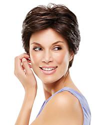 Недорогие -парики для продажи короткой прямой рукой, привязанной сверху человека девственной Реми волос парик для женщин