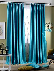 zwei Panele Rustikal / Modern / Neoklassisch Solid Multi-color Schlafzimmer Polyester Verdunklungsvorhänge Vorhänge