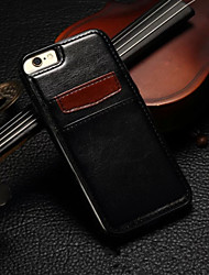 Per Custodia iPhone 6 / Custodia iPhone 6 Plus Porta-carte di credito Custodia Custodia posteriore Custodia Tinta unita Resistente