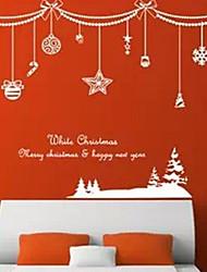 Snow Shade Christmas Tree Window Sticker Contemporary , Art Deco 42*107cm