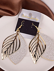 cheap -Earring Leaf Drop Earrings Jewelry Women Wedding / Party / Daily / Casual Alloy 2pcs Gold / Silver