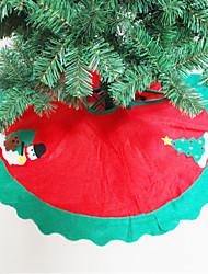abordables -arbre de Noël tablier jupes d'arbre de Noël ornements d'arbre décor à la maison de fête heureux noël décoration fournitures