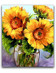cheap -IARTS®Realistic Sunglower Handmade Oil Painting in Whosale Price Floral Batanical Style