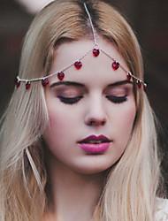 Недорогие -пластиковая головная цепь головной убор свадебная вечеринка элегантный женственный стиль