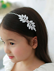 cheap -Lucky Doll Women's Elegant 925 Silver Plated Cubic Zirconia Rhinestone Leaf Headband