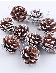 9 pcs naturel pin cône de noël arbres décoration décor à la maison