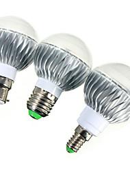 Недорогие -YWXLIGHT® 1шт 5 W 540 lm E14 / GU10 / B22 Круглые LED лампы A60(A19) 1 Светодиодные бусины Высокомощный LED Диммируемая / На пульте управления / Декоративная RGB 85-265 V / RoHs