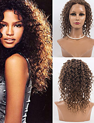 cheap -Human Hair Full Lace Wig Deep Wave 120% Density 100% Hand Tied African American Wig Natural Hairline Ombre Hair Medium Women's Human Hair