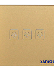 A8-03  1Way Touch Switch Crystal glass panel