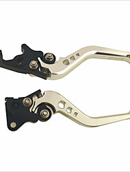 GY6 Blade Style Adjustable Motorcycle Brake Clutch Lever for Honda - Silvery White + Black (2 PCS)