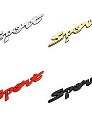 baratos -letras desportivas de liga de zinco metal cromado estilo do carro emblema emblema etiqueta auto decoração exterior logotipo cauda decalque