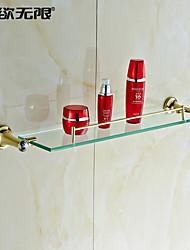 """Недорогие -Полка для ванной Карбонитрид титана Крепление на стену 605 x 120 x 90mm (23.8 x 4.72 x3.54"""") Медь / Хрусталь Современный"""