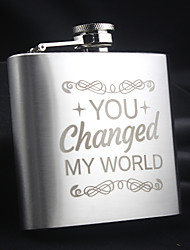Personalized Stainless Steel Hip Flasks 5-oz Flask Thanks