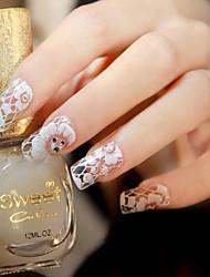 baratos -1PCS Autocolantes de Unhas 3D Jóias de Unhas Laço Autocolantes arte de unha Manicure e pedicure Adorável Flor / Fashion Diário / PVC / Etiqueta do laço / Jóias de unha / Etiquetas de unhas 3D