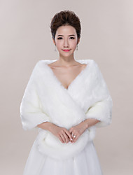 cheap -Sleeveless Faux Fur Wedding Party Evening Casual Shawls Wedding  Wraps Ponchos