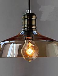 billige -Vedhæng Lys Ned Lys Galvaniseret Metal Glas Ministil 110-120V / 220-240V Varm Hvid Pære ikke Inkluderet / E26 / E27